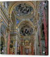 Parrocchia Santa Maria In Vallicella Acrylic Print