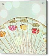 Pastel Ferris Wheel Acrylic Print