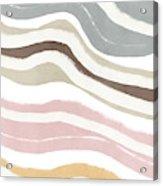 Pastel Waves 2- Art By Linda Woods Acrylic Print