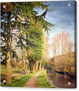 Path Besides Canal In Bute Park Acrylic Print