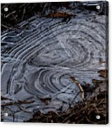 Patterns In Ice Acrylic Print
