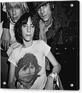 Patti Smith Backstage At The Whisky Acrylic Print