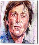 Paul McCartney Watercolor Acrylic Print
