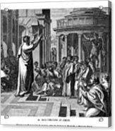 Paul Preaching At Athens, 1843.artist J Acrylic Print