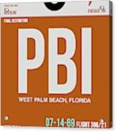 Pbi West Palm Beach Luggage Tag II Acrylic Print