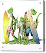 Peace Geckos  Acrylic Print