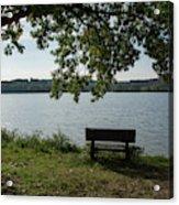 Peaceful Bench Acrylic Print