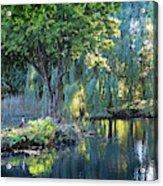 Peaceful Oasis - Japanese Garden Lake Acrylic Print