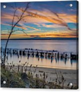 Peaceful Sunset At Sandy Hook Acrylic Print