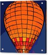 Peach Hot Air Balloon Night Glow In Abstract Acrylic Print