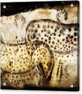 Pech Merle Horses And Hands Acrylic Print