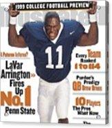 Penn State University Lavar Arrington, 1999 College Sports Illustrated Cover Acrylic Print