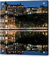 Perfect Sodermalm Blue Hour Reflection Acrylic Print
