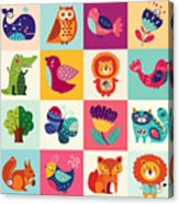 Perfect Vector Set Of Illustration In Acrylic Print