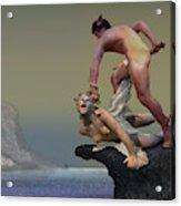 Perseus Fighting Medusa Acrylic Print