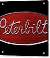 Peterbilt Emblem Black Acrylic Print
