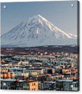 Petropavlovsk-kamchatsky Cityscape And Acrylic Print