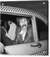 Phil Jackson In Taxi Acrylic Print