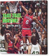 Philadelphia 76ers Julius Erving, 1982 Nba Eastern Sports Illustrated Cover Acrylic Print
