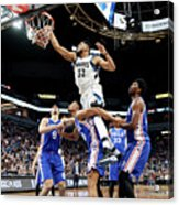 Philadelphia 76ers V Minnesota Acrylic Print