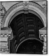 Philadelphia City Hall Fresco In Black And White Acrylic Print