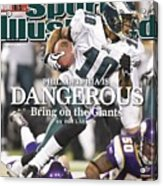 Philadelphia Eagles Desean Jackson, 2009 Nfc Wild Card Sports Illustrated Cover Acrylic Print