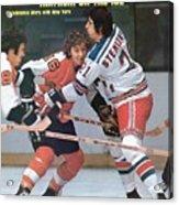 Philadelphia Flyers Bobby Clarke, 1974 Nhl Semifinals Sports Illustrated Cover Acrylic Print