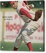 Philadelphia Phillies Art Mahaffey... Sports Illustrated Cover Acrylic Print