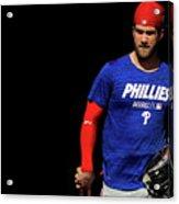Philadelphia Phillies Bryce Harper Acrylic Print