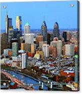 Philadelphia Skyline At Dusk 2018 Acrylic Print