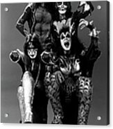Photo Of Ace Frehley And Peter Criss Acrylic Print