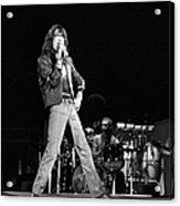Photo Of Charlie Watts And Mick Jagger Acrylic Print