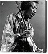 Photo Of Jimi Hendrix And Jimi Hendrix Acrylic Print
