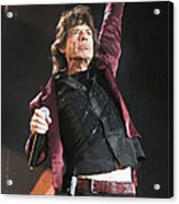 Photo Of Mick Jagger And Rolling Stones Acrylic Print