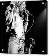 Photo Of Robert Plant And Led Zeppelin Acrylic Print