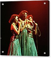 Photo Of Supremes And Susaye Greene And Acrylic Print