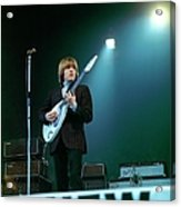 Photo Of Vox Guitars And Brian Jones Acrylic Print