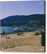 photograph of thid beach which is located in Stanley Park Vancouver. Third beach is a popular location for tourists and locals alike. Acrylic Print