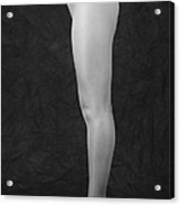 Photography Of Standing Womans Legs Acrylic Print