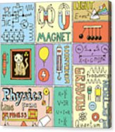 Physics Science Banners Set. Color Hand Acrylic Print