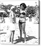 Picasso And Bikini-clad Woman On The Acrylic Print