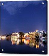 Pichola Lake Night View Acrylic Print