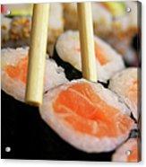 Picking Some Sushi Acrylic Print