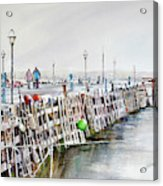 Piers To Be Cold Acrylic Print