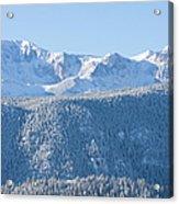Pikes Peak In Fresh Snow Acrylic Print