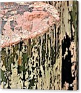 Pilings In Abstract Acrylic Print
