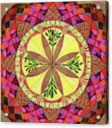 Pine Cone Mandala Acrylic Print