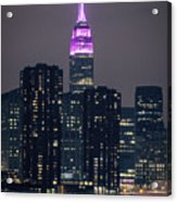 Pink Empire State Building Acrylic Print