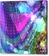 Pink Triangle Fractal Acrylic Print