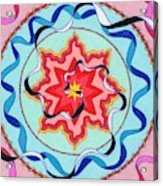 Pink, Yellow, Red Sun. Acrylic Print